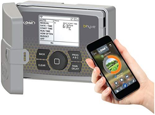 Orbit 94546 Programmatore per irrigazione automatica, a 6stazioni, con coperchio, C-Hyve Wi-Fi, 9x 24x 22cm, colore: grigio