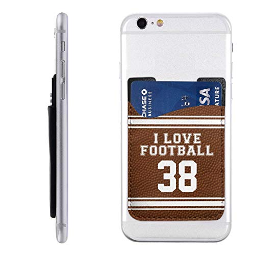 Best Senior Night Football Gifts 3M Adhesive Ultra Slim Cell Phone Card Holder Back, Stick On Card Wallet Sticker for iPhone Android Smartphones