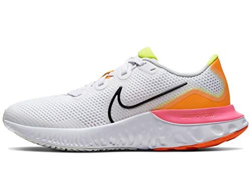 Nike Renew Run (GS), Zapatillas para Correr, White Black Platinum Tint Pink, 40 EU