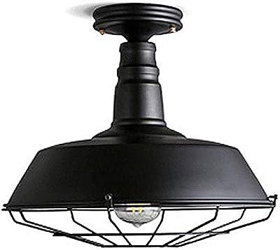 MAKKC Lámpara colgante de techo vintage Pantalla de cúpula Pantalla de metal de loft Lámpara colgante antigua Pantalla de jaula de metal Pantalla de iluminación Iluminación for mesa de comedor Sala de: