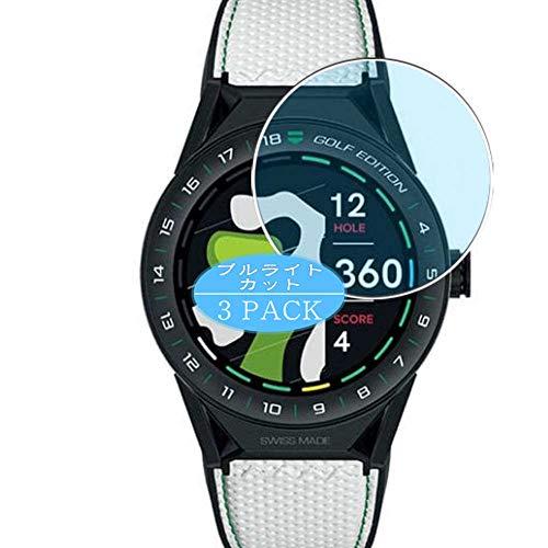 VacFun 3 Piezas Filtro Luz Azul Protector de Pantalla, compatible con TAG Heuer Connected Modular GOLF EDITION 45mm, Screen Protector Película Protectora(Not Cristal Templado)