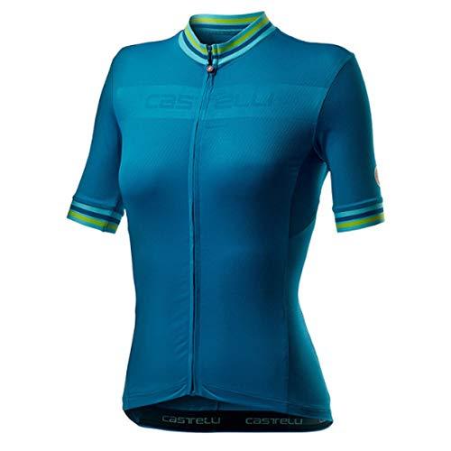 castelli Promessa 3 Camiseta, Mujer, Marine Blue, M