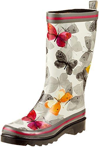 Beck Damen Schmetterling Gummistiefel, Mehrfarbig (Multicolor 50), 40 EU