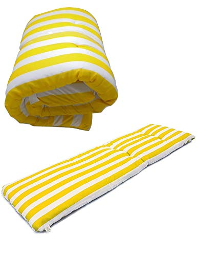 Cisne 2013, S.L. Coussin pour chaise longue ou meuble pour jardin, plage, extérieur. Coussin doux pour siège de terrasse, etc. Dimensions : 180 x 55 x 5 cm.