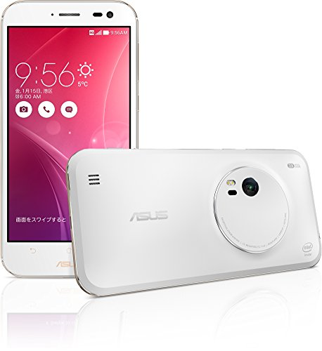 エイスース SIMフリースマートフォンZenFone Zoom 64GBモデルスタンダードホワイト ZX551ML-WH64S4PL