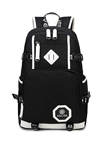 AGOWOO Mens Boys Heavy Duty Teens High School Backpack Bookbag Black