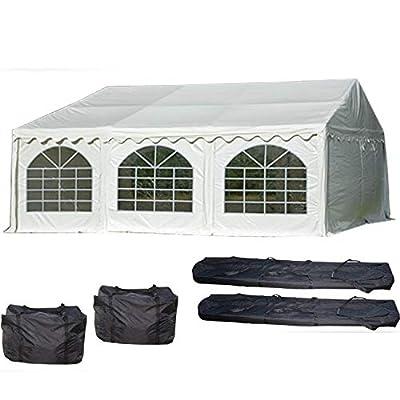 DELTA Canopies 20'x20' PVC Party Tent - Heavy Duty Wedding Canopy Gazebo Carport - with Storage Bags - By