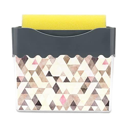 Caja de esponja de doble capa 2 en 1 con dispensador de jabón, detergente para prensa líquida,...