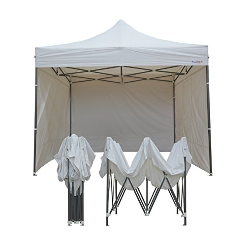 France-Barnums - Tente Pliante - Tonnelle Acier 3mx3m blanc avec Pack Côtés