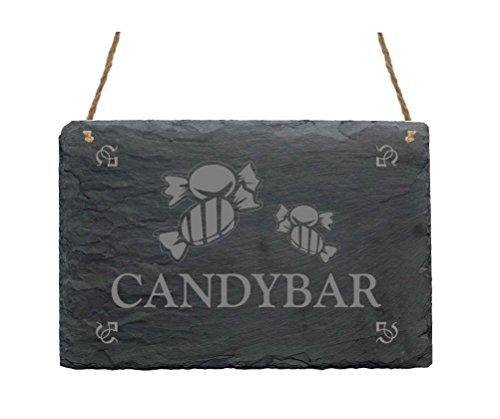Pizarra « Candy Bar » con diseño de señal presupuesto decorativa, regalo