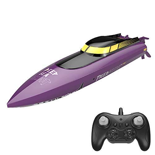 Moerc RC Boats Control Remoto Barco 25km / h Barco de Carreras de Alta Velocidad 2 Canales 2.4GHz Barcos RC Remo para Piscinas Lagos La Velocidad de Agua Toy Boat Radio Barcos de Radio Regalos de los
