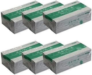 【6袋セット】エルヴェール ペーパータオル エコ ダブル 中判 703207(1袋 200組400枚×6パック)お手拭き