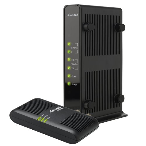 Actiontec Dual-Band Wireless Network Extender and Ethernet Over Coax Adapter Kit (WCB3000NK01)
