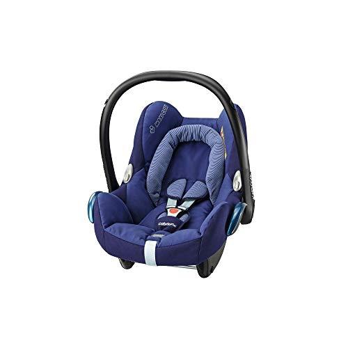 Maxi-Cosi CabrioFix Babyschale, Baby-Autositze Gruppe 0+ (0-13 kg), nutzbar bis ca. 12 Monate, passend für FamilyFix-Isofix Basisstation, River Blue (blau)