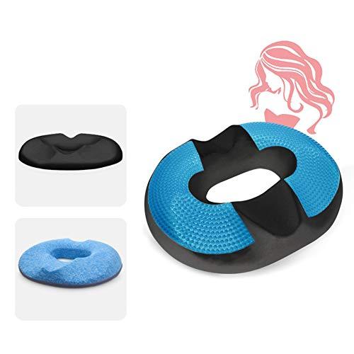 Orthopädisches Donut-Hämorrhoiden-Kissen Gel Verbesserte Sitzkissen Memory Foam Coccyx Pad BBL-Kissen für Auto und Rollstuhl,Women