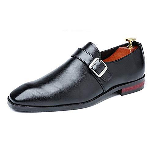 Best-choise Zapatos Oxford de Vestir for Hombres Zapatos de Vestir Formales Mocasines Casuales Correa de Monje de Cuero de PU Punta Puntiaguda Estilo Pulido Puntada Resistente a la abrasión Llamativo
