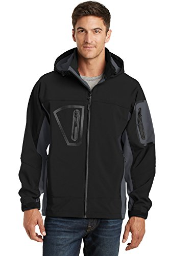 Port Authority® Waterproof Soft Shell Jacket. J798 Black/Graphite M