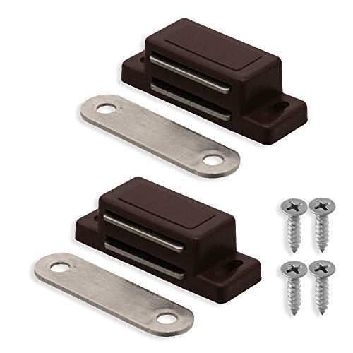 2x Magnetschnäpper Türmagnet Möbelmagnet Magnetverschluss Braun