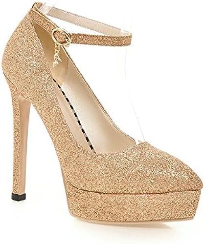 SFSYDDY-Printemps Et été Brillant Mariage Chaussure Chaussures étanches Et La Mariée Plate - Forme Unique Magasin De Nuit Super Chaussures à Talon