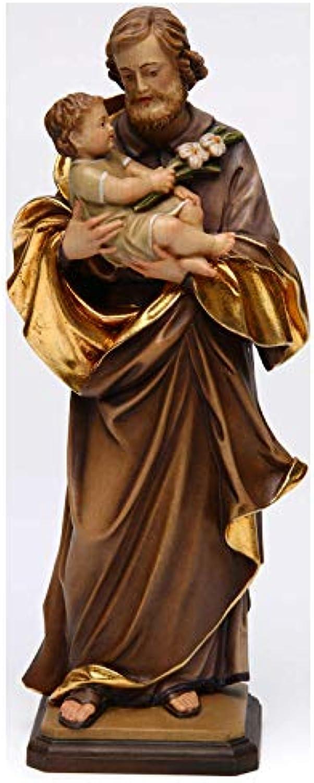 Heiliger Josef mit Kind bei Guido Reni Grdnertal Holz, 20 cm (7.88 inc.)