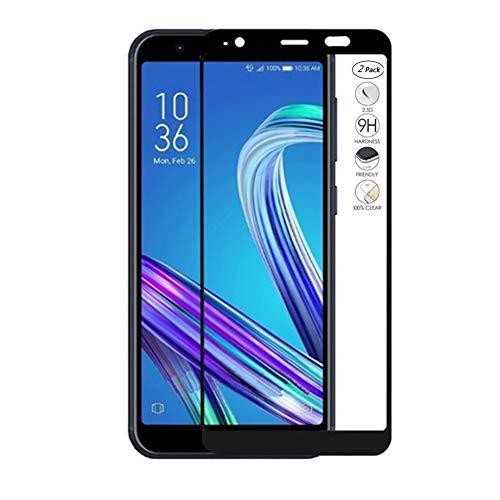 HERCN (2 Pack) ASUS ZenFone Live (L1) ZA550KL 5.5' Vetro Temperato, Full Coverage Full Glue 9H Durezza Pellicola Protettiva in Vetro Temperato per ASUS ZenFone Live (L1) ZA550KL Smartphone (Nero)