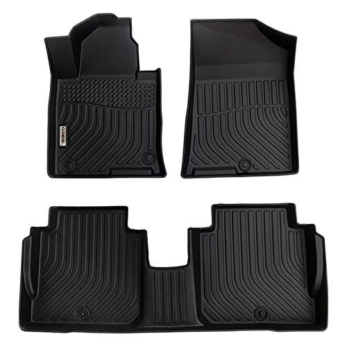 orealtrend Black Floor Mats Liners Replacement for Kia Cadenza 2014-2019 Heavy Duty All Weather Guard Front Rear Auto Carpet-Custom Fit-Tough/Durable/Odorless