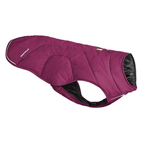 Ruffwear Isolierende Hunde-Jacke, Wind- und wasserabweisend, Mittelgroße Hunderassen, Größe: M, Violett (Larkspur Purple), Quinzee, 05601-580M