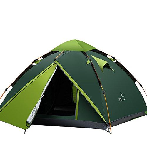 Flytop 3–4 saisons 3–4person double couche Tente de randonnée en aluminium Rod coupe-vent imperméable à l'eau pour le camping randonnée Voyage d'escalade – Facile à installer