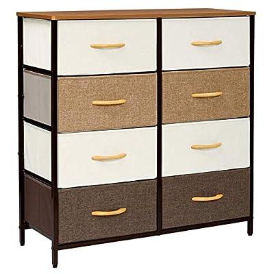 Kamiler Dresser with 8 Drawers, Tall Vertical Storage Organizer, 4-Tier Wide Drawer Dresser, Tower Unit for Bedroom/Hallway/Entryway/Closets (Cream)