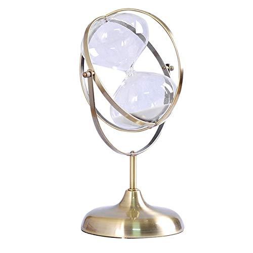 JINSUO NWXZU Sanduhr, Metall Sanduhr Timer Dekoration, kreative vibrierende Wohnaccessoires, Wohnzimmer schönes Geschenk (Color : A)