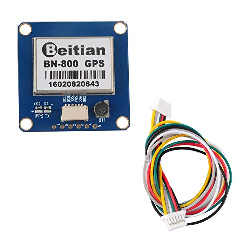 Geekstory BN-800 GPS Module GPS Glonass with Flash Compass HMC5883 + Passive GPS Antenna for Pixhawk APM Flight Controller Support GPS Glonass Beidou Car Navigation