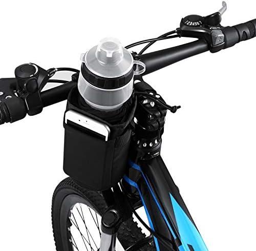 VLTAWA Bike Water Bottle Holder Bag 32oz Bicycle Water Bottle Cage No Screws Waterproof Insulation product image