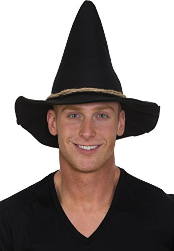 Jacobson Hat Company Black Scarecrow Hat w Rope Band Adult