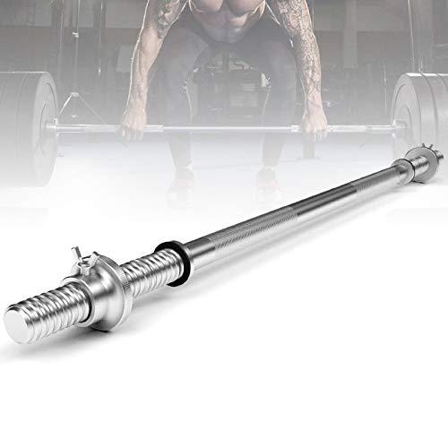 47'/59'Olympic Barbell Bar Weight Lifting Bar,Threaded Chrome Barbell Bar,Weight Bar,Barbell Standard Solid Bar,for Weightlifting and Power Lifting Home Gym Exercises Rogue Bar,Curl Bar(Size:150cm)