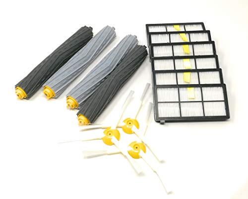 Grande brosse d'entretien nécessaire et filtre de remplacement pour iRobot roomba série 800 (870/871/880/890)