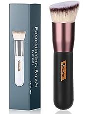 Flat Top Kabuki Foundation Brush, Premium Makeup Brush for Liquid, Blending, Cream, Powder,Blush Buffing Stippling Face Makeup Tools
