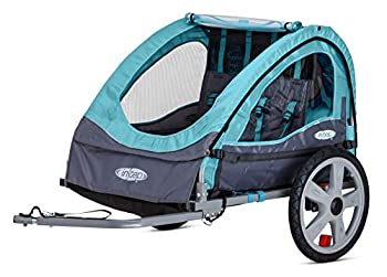 Instep Bike Trailer for Kids Single and Double Seat Double Seat Light Blue