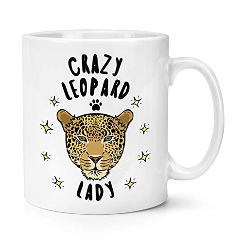 Verrückte Leoparden Damen 283g Becher Tasse
