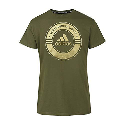 adidas Unisex Erwachsene Shirt Combat Sports T, grün/Gold, L