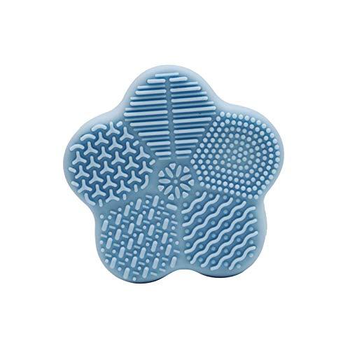 3 Pcs Makeup Brush Cleaning Mat with Sponge Silicone Cleaner Pad, Silicone Makeup Brush Cleaner Mat, Makeup Sponge Cleaner
