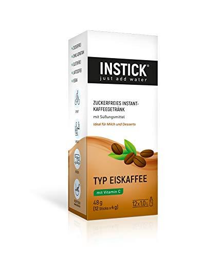 INSTICK | Zuckerfreies Instant-Kaffeegetränk Eiskaffee - 12-er Packung für 12 x 1 L