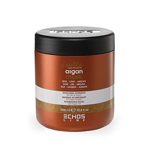 Echosline Argan Mask 1000ml, mit Seidenproteinen, Leinsamen und Arganöl