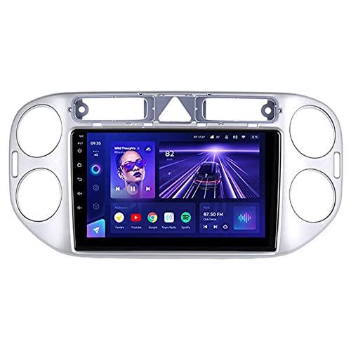 ADMLZQQ Android Coche 2din Stereo para Volkswagen Tiguan 1 Nf 2006 2008 2010 2012 2016 GPS NavegacióN Reproductor De Radio Multimedia con FM Am SWC Carplay Dsp