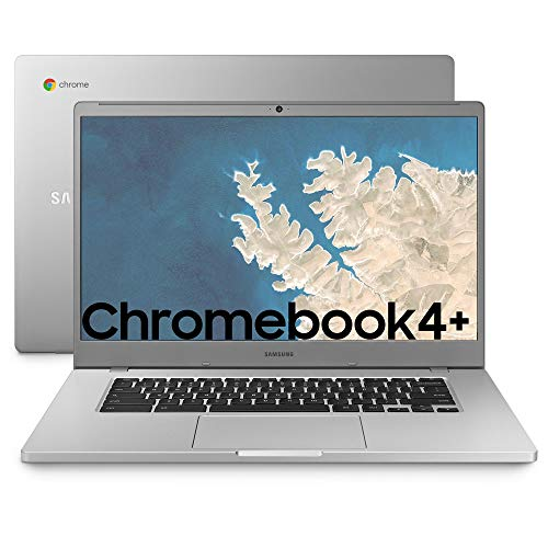 "SAMSUNG Chromebook 4+, Computer Portatile XE350XBAI Chrome OS, Display Screen 15.6"" Full HD LED, Batteria 39Wh, RAM 4GB, Memoria 64 GB, USB-C, Platinum Titan, Versione Italiana"