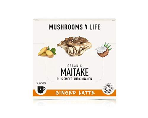 Mushrooms 4 Life Organic Maitake Ginger Latte 10 Sachets, 0.055 kg