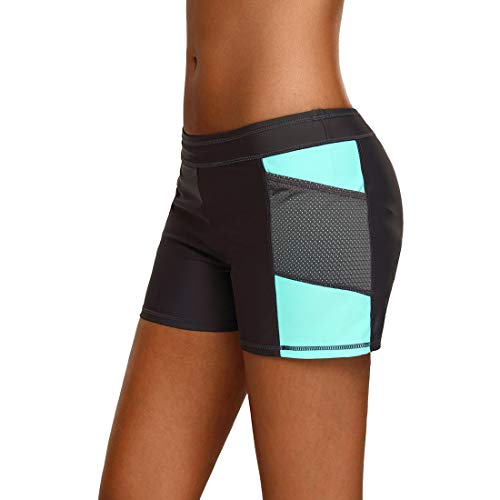 TeamWorld Mujeres Playa Pantalones Cortos de Natación Bottom Ropa de Baño Bikini, Verano Shorts de Baño Mujer Bañador Short Yoga Deportes Shorts de Natación Secado Rápido