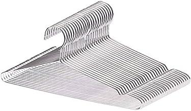 LEEPWEI 304 ステンレスハンガー ハンガー 20本セット すべらない 洗濯 ハンガー 頑丈 錆びにくい 曲がらない ハンガー スカート シルバー ハンガー ズボン コート 3.2mm 幅42cm