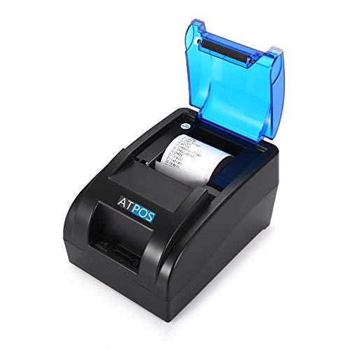 Atpos 58MM H-58 USB Thermal Receipt Printer | ESC/POS Print Billing Kiosk CSP - Black