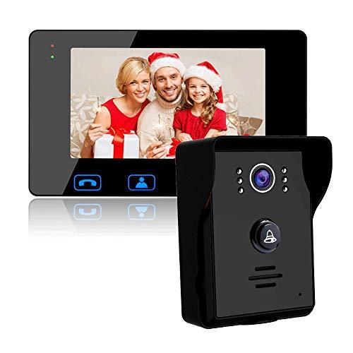 """IP55 a prueba de agua del sistema de intercomunicación de vídeo timbre de la puerta, video timbre Kit con 2-7"""" monitor en color de alta definición y la Noche cámara de visión for la seguridad casera v"""