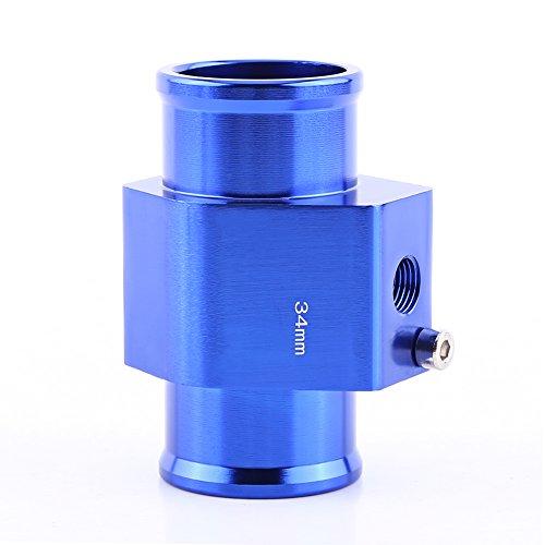 Keenso Universal Aluminium Wassertemperatur Verbindungsrohr Sensor Messgerät Heizkörper Schlauch Adapter, Blau 26mm - 40mm(34MM)